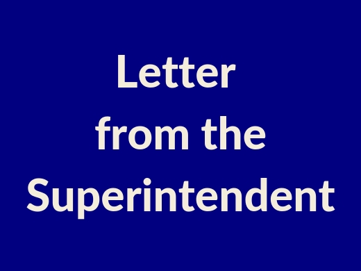 """Togetherness"" - A Letter from the Superintendent"