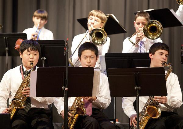 saxes and brass