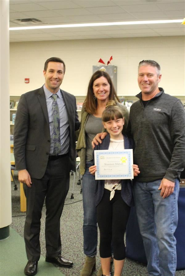 Pine Road Student of the Month -- Shannon Mahon